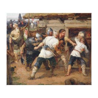 Los Pagans mataron a los primeros cristianos Impresión De Lienzo