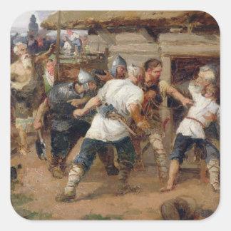 Los Pagans mataron a los primeros cristianos Calcomanía Cuadradas Personalizadas