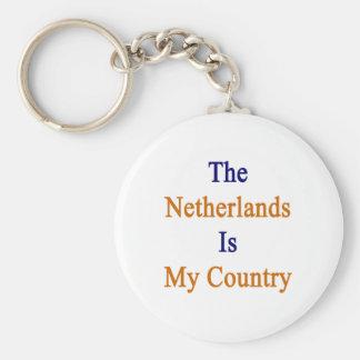 Los Países Bajos son mi país Llavero Redondo Tipo Pin