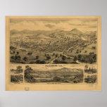 Los pájaros 1876 de Healdsburg Sonoma CA observan  Posters