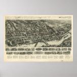 Los pájaros 1919 de Shelton CT observan el mapa pa Posters