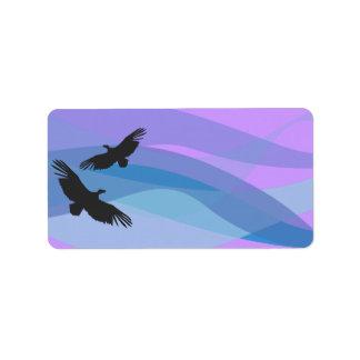 Los pájaros de la arca de Noah imprimen a su pegat Etiquetas De Dirección