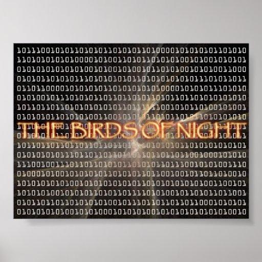 Los pájaros de la noche convertidos a digital impresiones