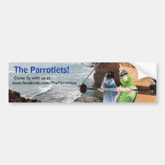 Los pájaros de Parrotlets vuelan con nosotros a la Pegatina Para Auto
