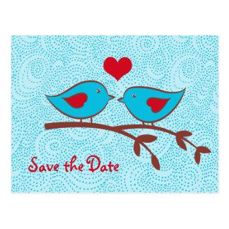 Los pájaros del amor ahorran la postal de la fecha