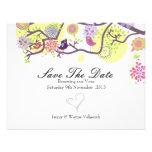 Los pájaros del amor ahorran la tarjeta de fecha e invitaciones personalizada