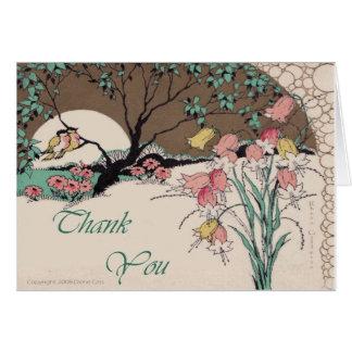 Los pájaros del amor de las impresiones del art dé tarjeta de felicitación