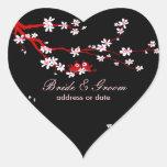 Los pájaros del amor de PixDezines/la Pegatina En Forma De Corazón