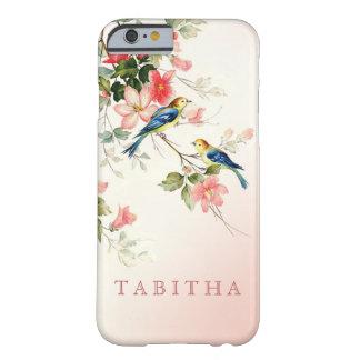Los pájaros del amor del vintage el | se ruborizan funda para iPhone 6 barely there