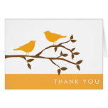 Los pájaros del amor le agradecen las tarjetas