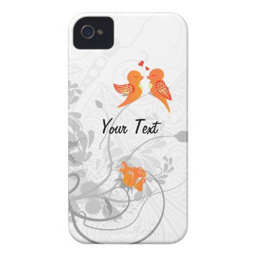 Los pájaros del amor - personalice funda para iPhone 4