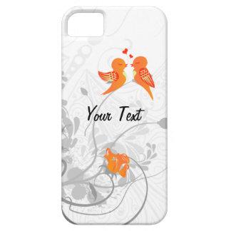 Los pájaros del amor - personalice iPhone 5 funda