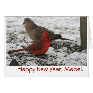 Los pájaros del Año Nuevo Tarjeta De Felicitación