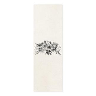 Los pájaros del gorrión del vintage personalizaron tarjeta de visita