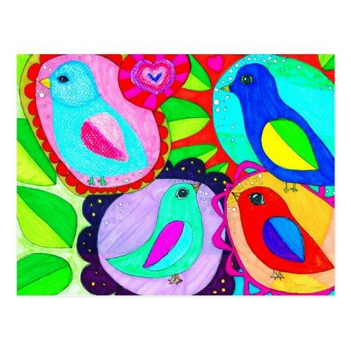 ¡Los pájaros dicen que quieren la libertad! Postal