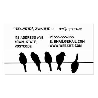Los pájaros en un alambre - atrévase a ser tarjetas de visita