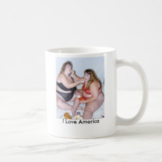 los pájaros gordos, amo América Taza De Café