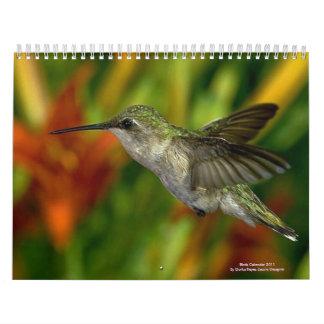Los pájaros hacen calendarios 2011