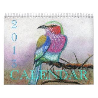 Los pájaros hermosos… rindieron el calendario 2013