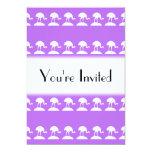 Los pájaros modelan, púrpura invitación 12,7 x 17,8 cm