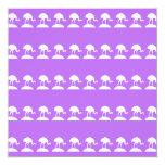Los pájaros modelan, púrpura invitación 13,3 cm x 13,3cm