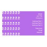 Los pájaros modelan, púrpura tarjeta de visita