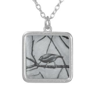 los pájaros, pájaro, rama, naturaleza, amistad, colgante cuadrado