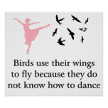 Los pájaros utilizan sus alas para volar la impres poster