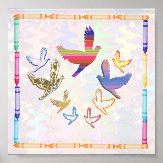Los pájaros vuelan El alto altísimo es mi natura Poster