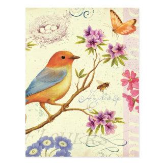 Los pájaros y las abejas postal