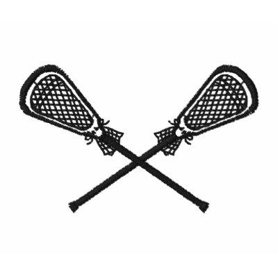 Los palillos de LaCrosse cruzados bordaron la Camiseta Polo