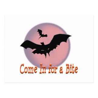 Los palos de Halloween vienen adentro para una Postal