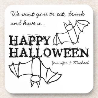 Los palos divertidos de Halloween personalizaron Posavaso