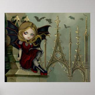 Los palos en el arte de hadas gótico del campanari impresiones