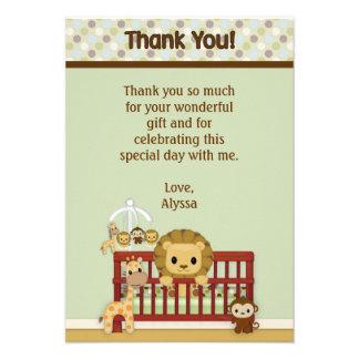 Los Pals de la selva del bebé del LEÓN le agradece Invitaciones Personalizada