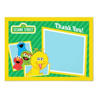 """Los Pals del Sesame Street le agradecen Invitación 4.5"""" X 6.25"""""""