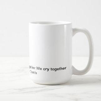 los pams, nos colocamos juntos nos luchamos juntos tazas de café