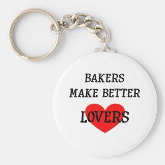 Los panaderos hacen a mejores amantes llavero redondo tipo pin