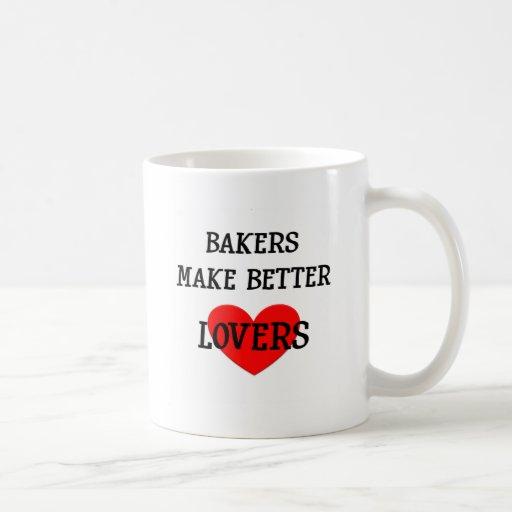 Los panaderos hacen a mejores amantes taza básica blanca