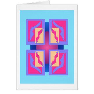Los paneles abstractos coloridos tarjeta de felicitación