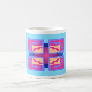 Los paneles abstractos coloridos taza de café