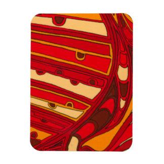 Los paneles anaranjados abstractos imanes