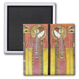 Los paneles bordados de Margaret Macdonald Imán Cuadrado