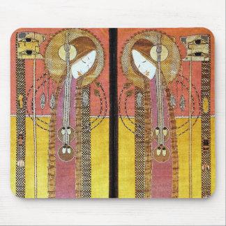 Los paneles bordados de Margaret Macdonald Alfombrillas De Raton