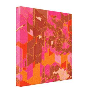 Los paneles coloridos lienzo envuelto para galerías