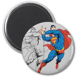 Los paneles cómicos del superhombre imanes de nevera