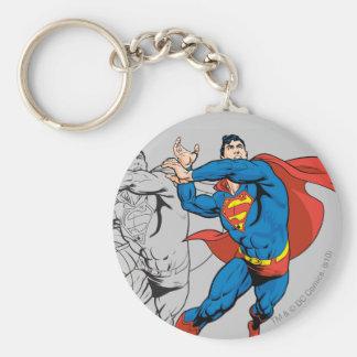 Los paneles cómicos del superhombre llaveros personalizados