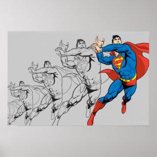 Los paneles cómicos del superhombre posters