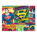 Los paneles cómicos del superhombre postales