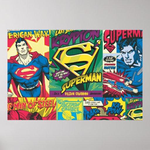 Los paneles cómicos del superhombre poster
